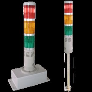 三色警示燈+繼電器(結合箱)