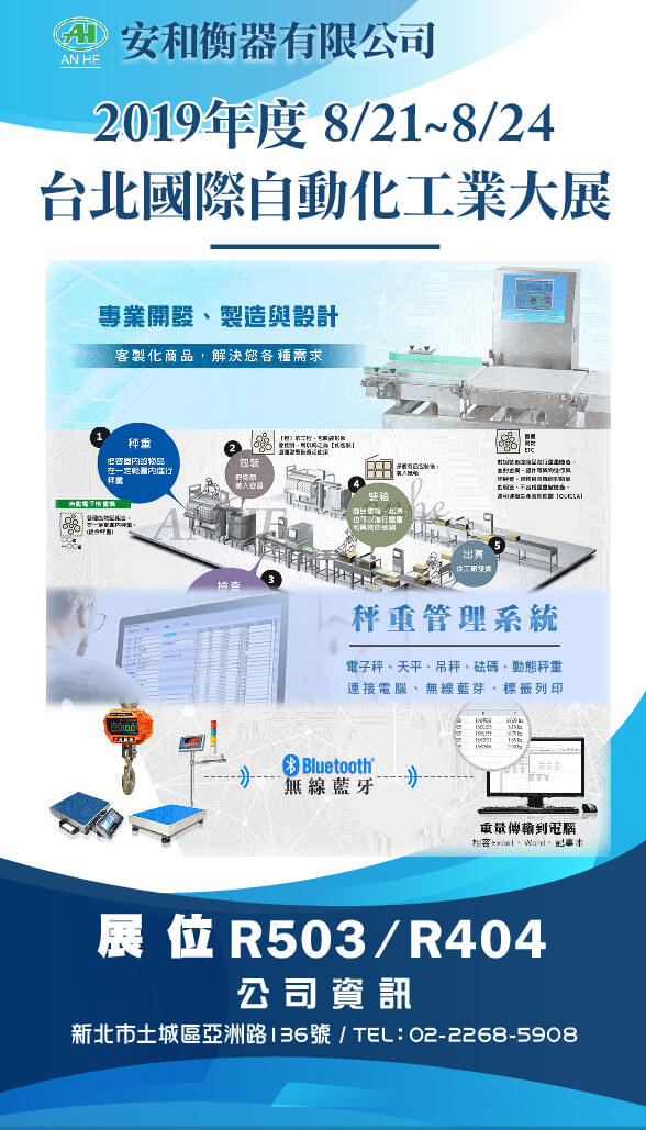 2019台北國際自動化工業大展(2019.8.21~24)-開展啦!!